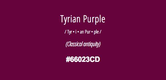 tyrian-purple